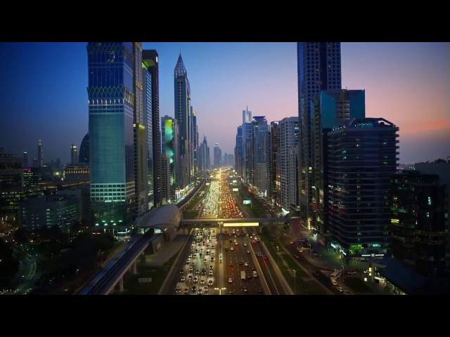 Sheikh Zayed Road شارع الشيخ زايد Aerial Dubai