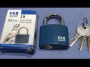 (picking 382) FAB 5 pin padlock 52mm - a very nice looking souvenir by my mom from Praha