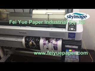 100gsm Tacky Adhesive Sublimation Paper with Epson F-6280 Original Ink