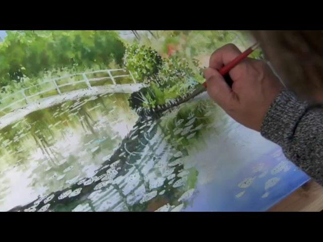 水彩画制作過程27.三重県のモネ池を描く・後編(2)ムッチーWATERCOLOR PROCESS-27