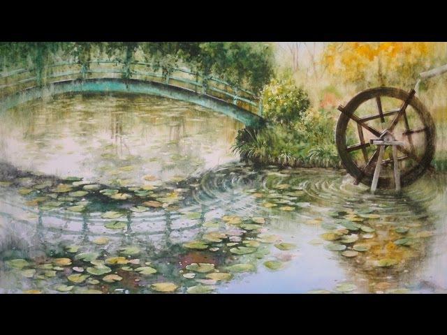 水彩画制作過程27.三重県のモネ池を描く・前編(1)ムッチーWATERCOLOR PROCESS-27