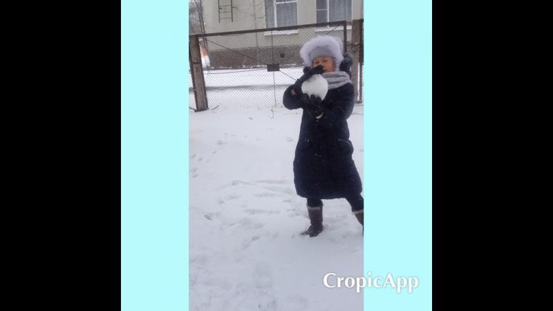 Зима в апреле.