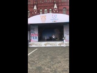 На фестивале #СпасскаяБашня проходит посвящение олимпийских чемпионок в Послы Студенческих игр