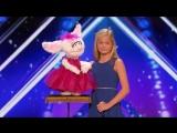 12 летняя девочка чревовещатель покорила всех на конкурсе талантов
