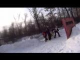 турнир по спрот пейнтболу три на три зимой пейнтбольный клуб скорпион 6