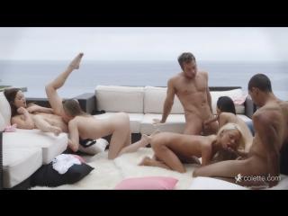 Veronica Rodriguez, Aubrey Star, Jenna J Ross, Katerina Kay - Outdoor Orgy All Sex, Hardcore, Blowjob, Orgy