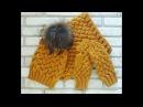 Красивый комплект спицами! Часть 3. Шапка с узором из кос. Коса из 12 петель. Hat. Knitting.