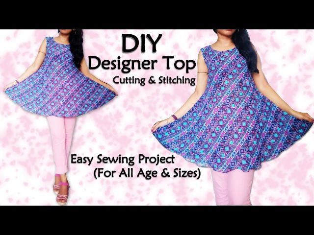Diy Designer Top Cutting Stitching Sewing for Beginners