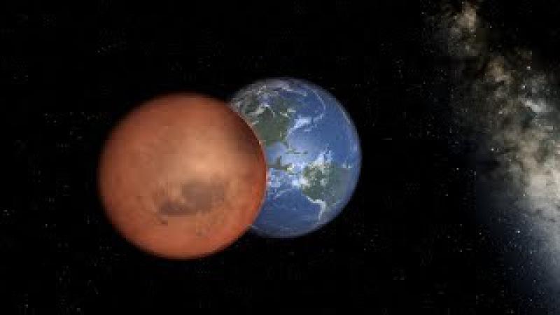 Что будет, если Марс окажется рядом с Землей? - Universe Sandbox 2