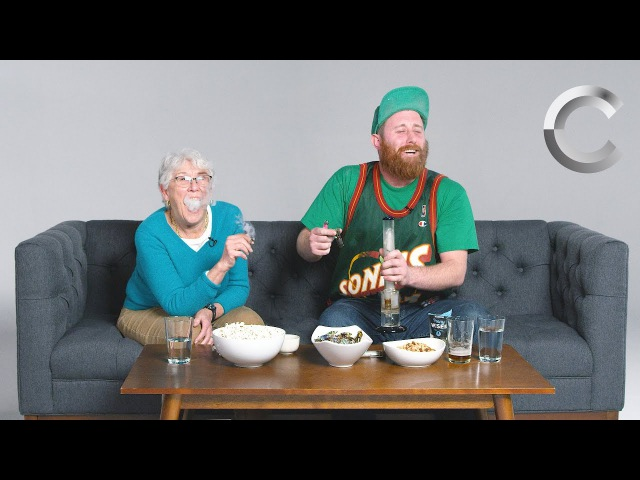 Dude Smokes Weed with his Grandma for the First Time highway420