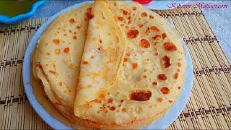 Krep nasıl yapılır - Kolay krep (akıtma) tarifi - Kahvaltılık tarifler - Kibarin mutfagi