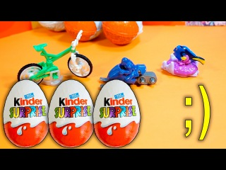 Disney Finding Dory 3 New Kinder Surprise Eggs SPRINTY BIKE and SNOWMOBILE