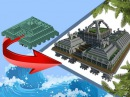 Minecraft Transformation - Ocean Monument To Land Monument!