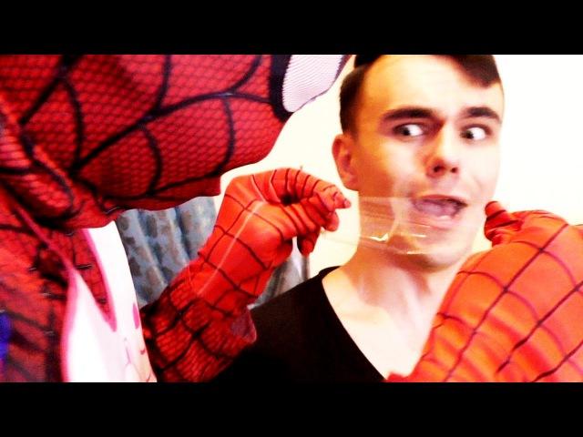 РЕБЕНОК ЧЕЛОВЕК ПАУК СВЯЗАЛ ЯРИКА ЛАПУ / Spiderman Baby vs Yarik Paw