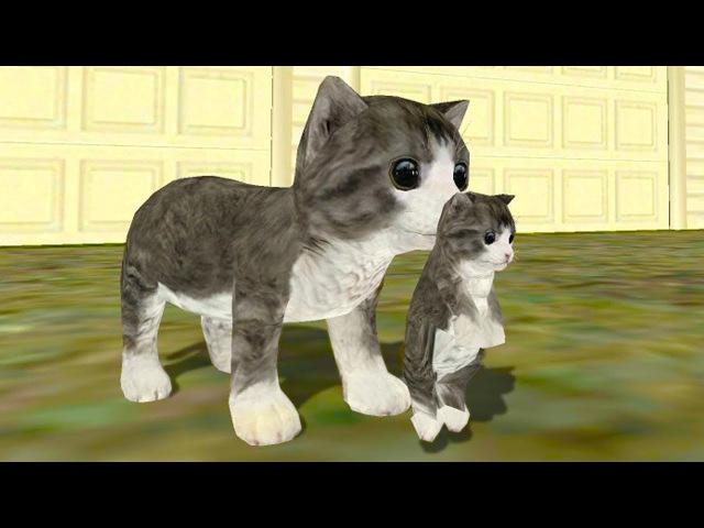 СИМУЛЯТОР Маленького КОТЕНКА 12 Кошка выросла и победила собаку в мультяшной игре ПУРУМЧАТА