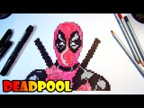 Дэдпул - Рисуем по Клеточкам - Coloring Book Deadpool, Drawing with Pen for Kids Learning Art Colors