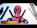 Дэдпул - Рисуем по Клеточкам - Coloring Deadpool, Drawing with Pen for Kids Learning Art Colors