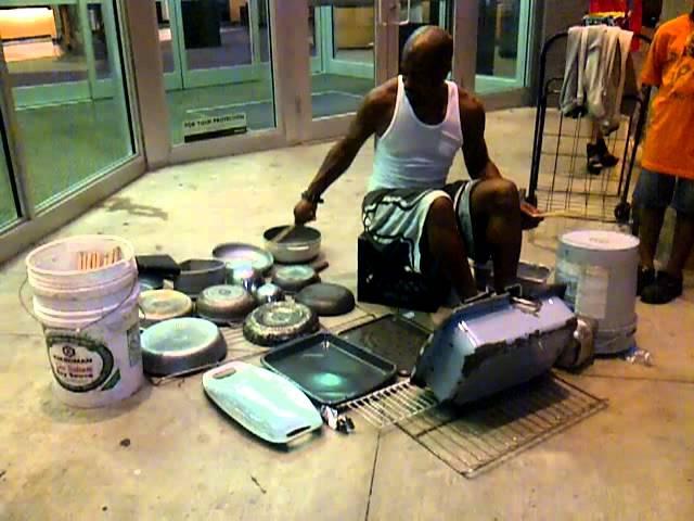 Miami Street Drummer - Baterista callejero