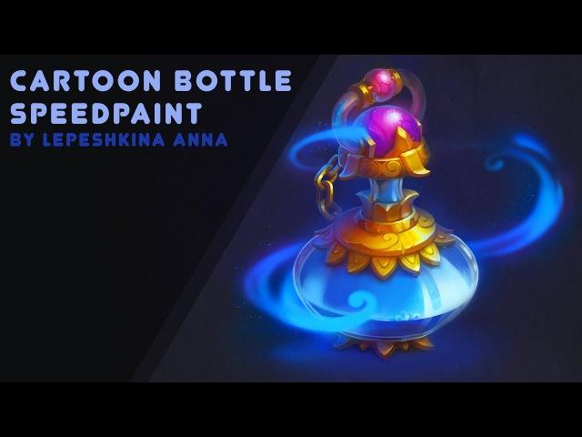 Isometric cartoon bottle speedpaint