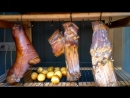 Горячее копчение мяса, сало