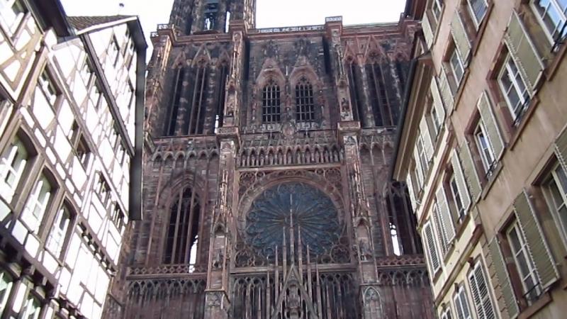 Звон в Страсбургском Соборе и собственно сам собор.
