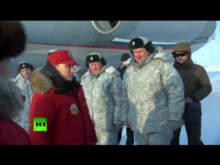 Владимир Путин и Дмитрий Медведев посетили Арктику