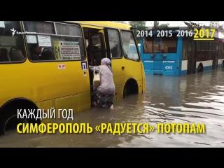 Четыре года под водой: ливни топят Симферополь