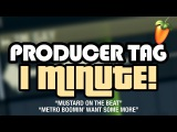 HOW TO MAKE A PRODUCER TAG IN 1 MINUTE