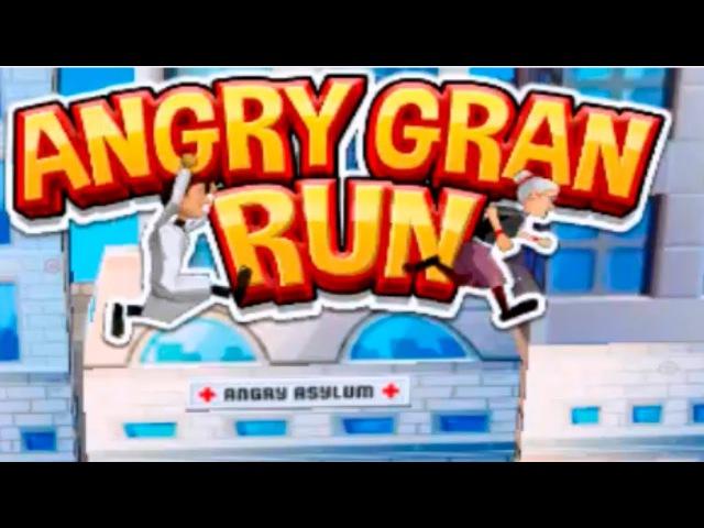 ANGRY GRAN RUN Игра Бабушка беги Играем с папой