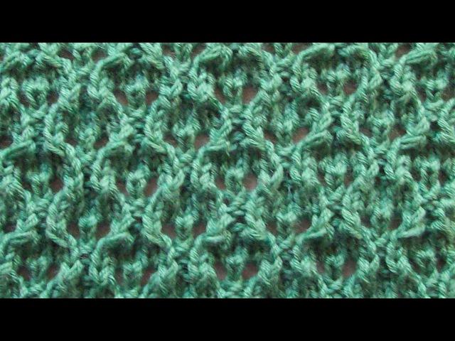 Ажурный узор Вязание спицами Видеоуроки
