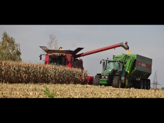 CORN HARVEST | Case IH Axial-Flow 9120 | John Deere 8530 Bergmann | Agriculture |