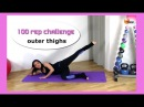 FREE Outer Thigh Workout - BARLATES BODY BLITZ 100 Rep Challenge OUTER THIGHS with Linda Wooldridge
