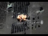 مشاهد تدمير الطيران الروسي لراجمة صواريخ &#16