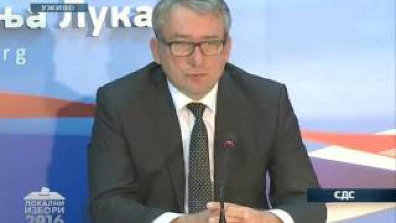 Lider SDS-a Mladen Bosić priznao loše rezultate na lokalnim izborima