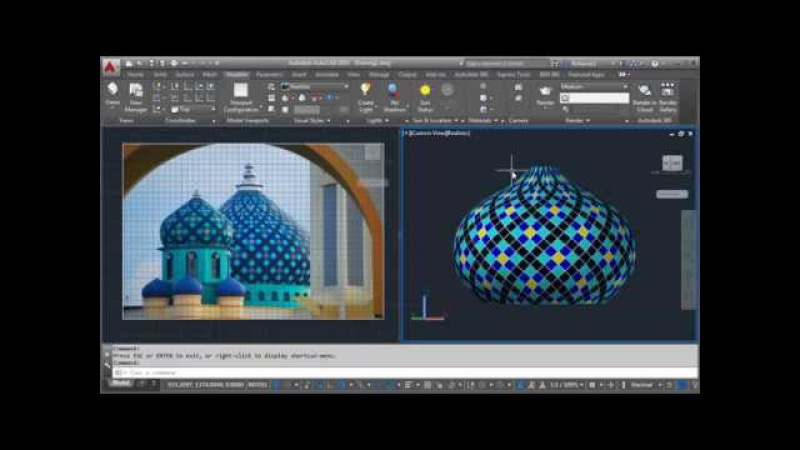 AutoCAD Create Texture and Mapping Dome