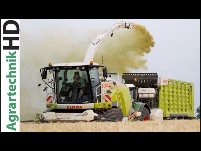 Fendt Traktoren | Claas Jaguar 970 | Grünroggen Häckseln | AgrartechnikHD