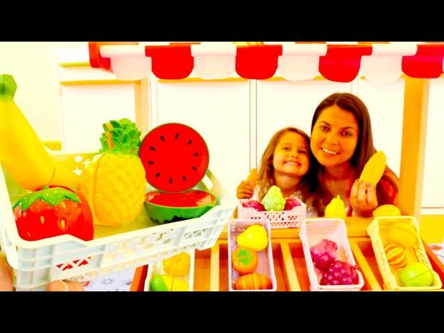Sebze Meyve manavı oyunu! 🍇🍓🍒 Meyvelerin kaybolan parçaları BUL! Okul öncesi etkinlikleri MOD