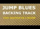 Jump Blues Backing Track Fast shuffle swing blues in C major
