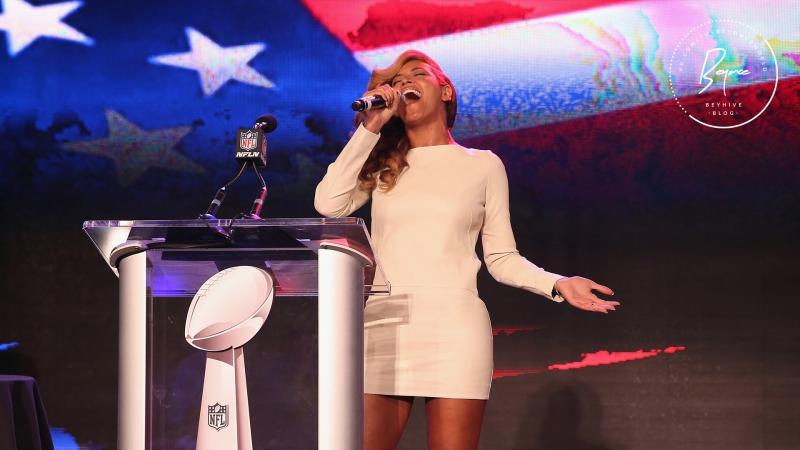 Beyoncé The National Anthem Super Bowl XLVII Halftime Show Press Conference 2013