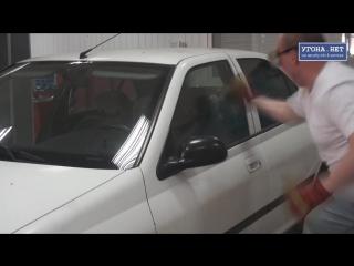 Можно ли  разбить бронированное стекло в авто )))