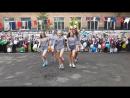 1 сентября. Гимнастический танец на школьной линейке.