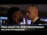 Rory Macdonald and Paul Daley face off at the Bellator 179 press conference in London