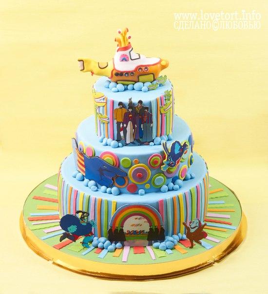 """Торт The Beatles """"Желтая подводная лодка"""" cake"""