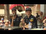 Daniel Ricciardo and Max Verstappen are form at Friday's Fan Forum in Monaco