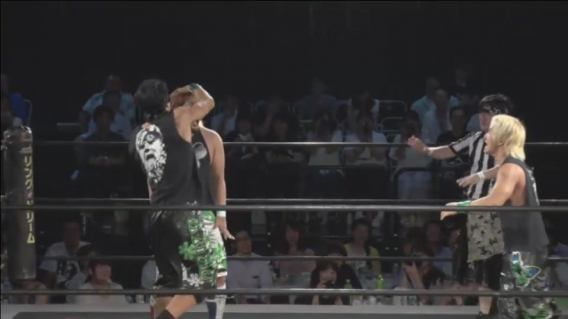 Daiki Shimomura vs. Gota Ihashi vs. Konosuke Takeshita vs. Trans Am Hiroshi vs. Yuni (DDT - BGF 2017 ~ ALL OUT DAY ~)