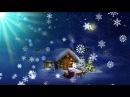 Футаж Ночь Новогодняя в лунном сиянии HD