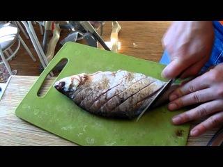 Как пожарить карася или леща без костей? How to fry carp or bream off the bone?