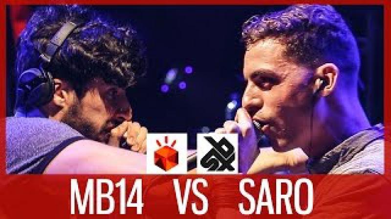 MB14 vs SARO | Grand Beatbox LOOPSTATION Battle 2017 | SEMI FINAL