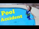 POOL ACCIDENT 😱 Swimming Pool Flip Gone Wrong Night Swim IN CLOTHES