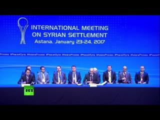 Пресс-конференция главы делегации правительства САР по итогам переговоров в Астане. 24.01.2017.